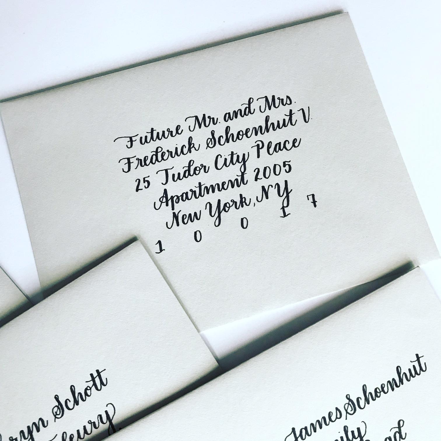 Envelope Calligraphy Script