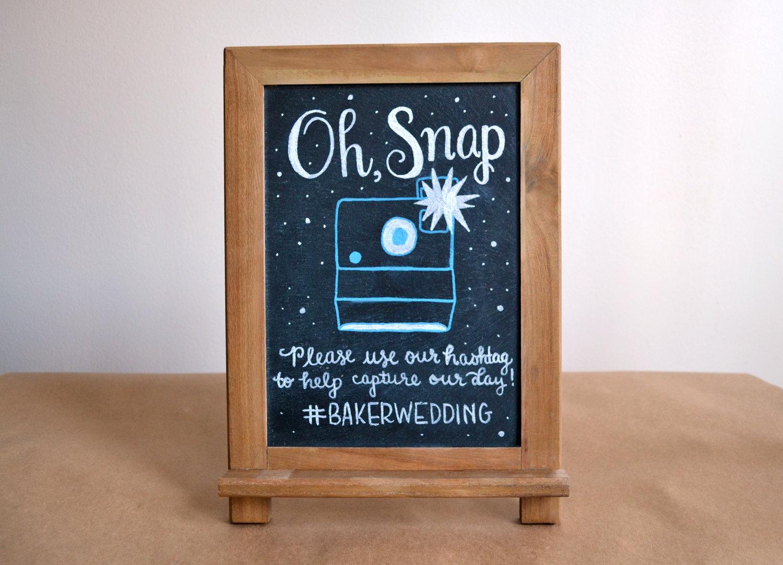 Custom Wedding Social Media Hashtag Sign