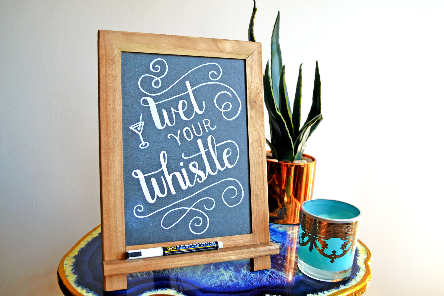 """Wedding """"Wet Your Whistle"""" Bar Sign"""
