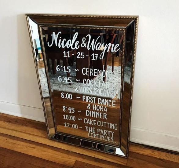 Wedding Timeline Sign