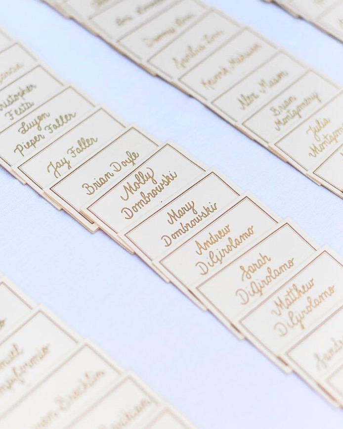 Classic Cream & Gold Escort Cards