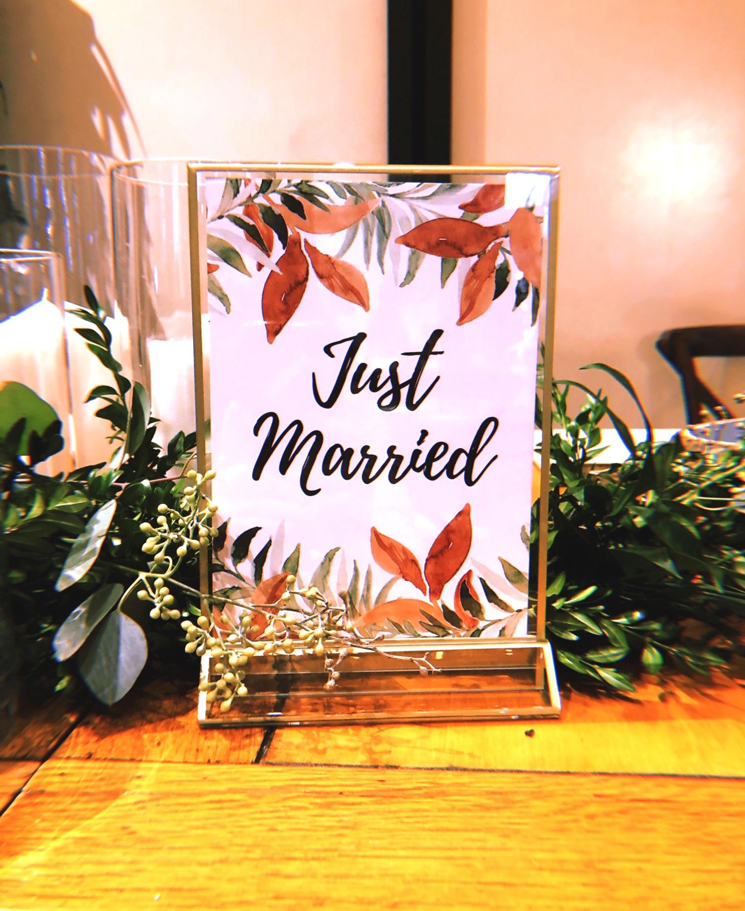 Custom Printed Just Married Sign