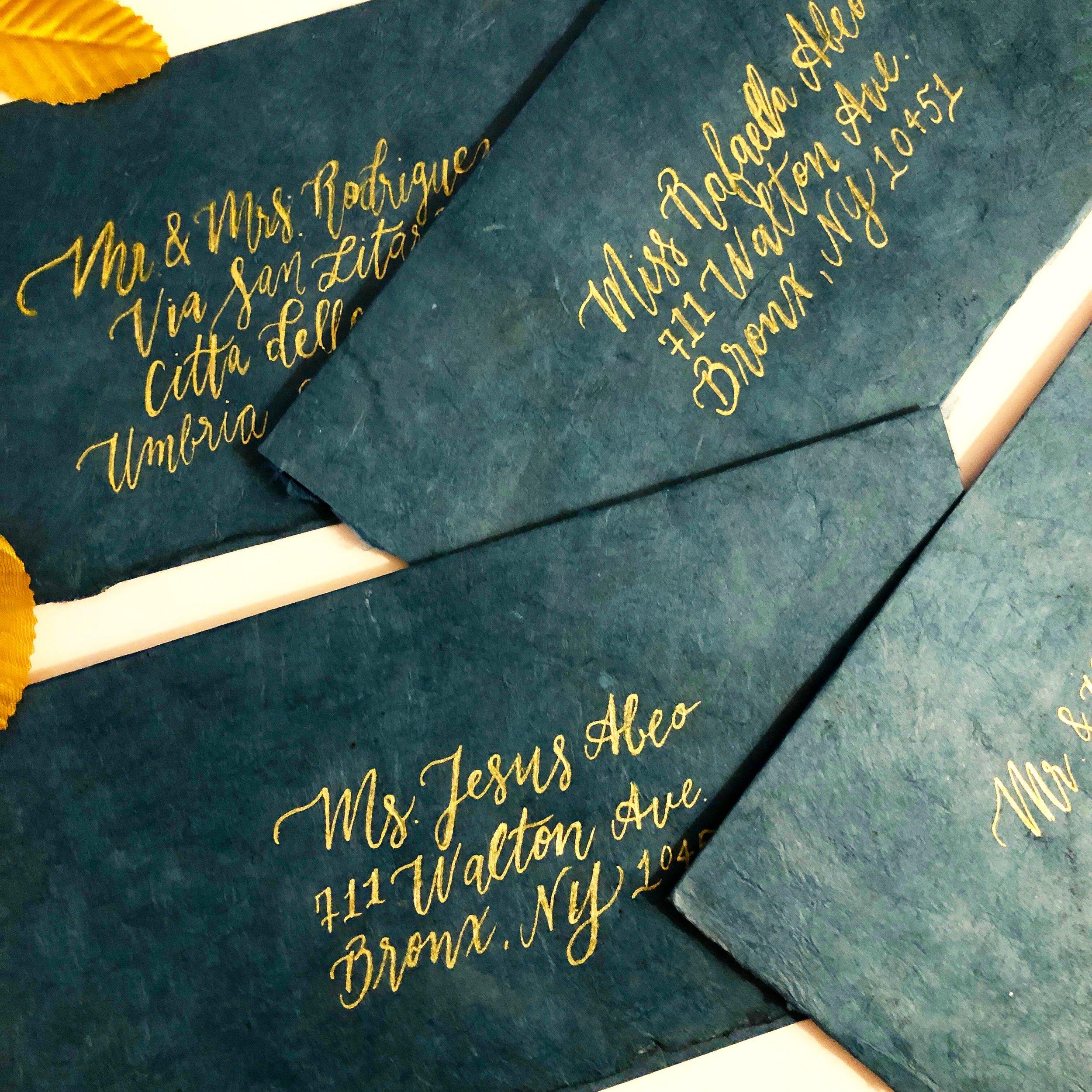 Envelope Calligraphy Vintage Script