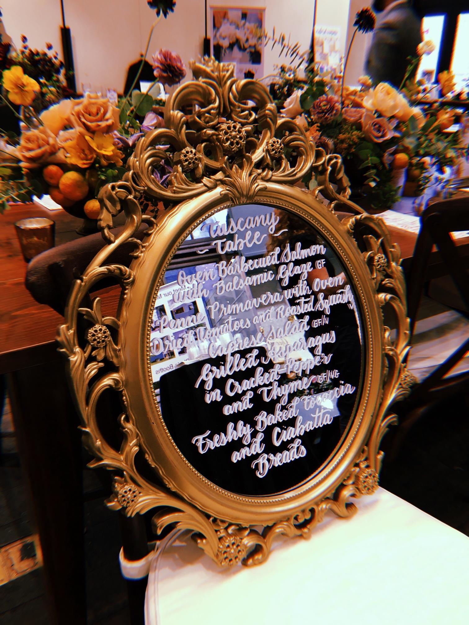 Custom Vintage Mirror Menu