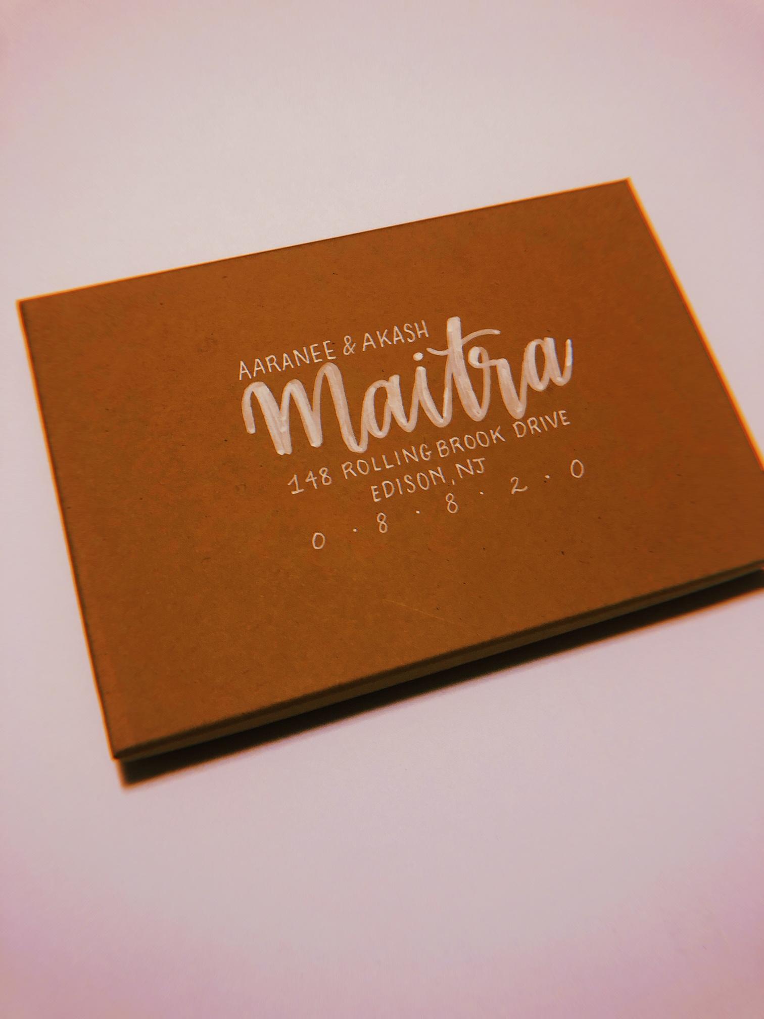 Envelope Calligraphy Large Script + Small Sans Serif Font Combo