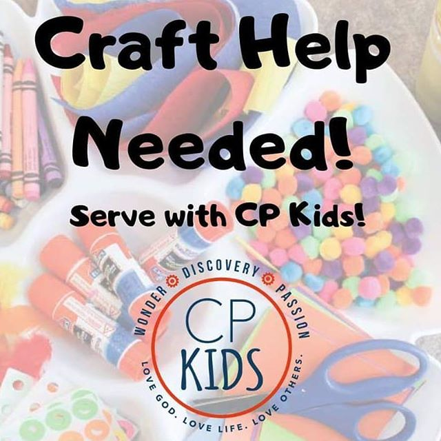 Hey friends!  Have you been looking for a place to serve, but need flexibility? Do you love this ministry, but working directly with kids is not what speaks to you? Do you love to prep and organize?  If you answered YES to any of the above, I have the perfect place for you! We have an immediate need for craft prep for our preschool ministry, and ongoing opportunities to help with our elementary ministry as well.  If you would like to know more, comment below or email me at cpkids@crosspt.org