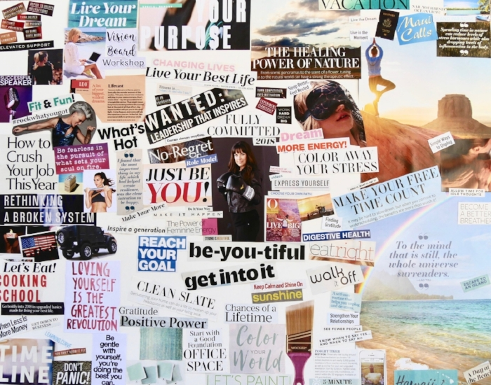This was a vision board I created for 2018!