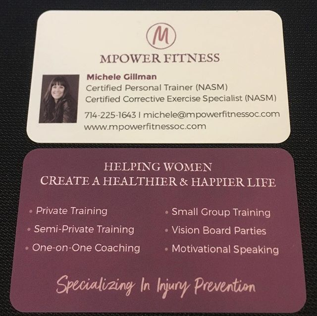 Mpower Fitness is 9 1/2 years old so it was time to get new business cards! Thanks @curlyqchristy!
