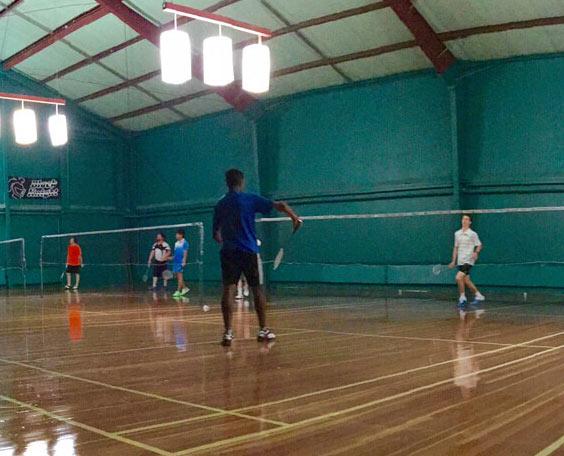 Riverside badminton tournament