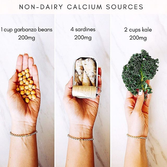 Question! Where do you get your calcium? . . . I frequently get asked how women will get enough calcium in their diet if they go dairy free. The recommended daily intake (RDI) of calcium is 1,000 mg per day for most adults. Many seeds such as chia seeds or poppy seeds are packed with calcium. Sardines and canned salmon are also loaded with calcium, thanks to their edible bones. Dark, leafy greens are incredibly healthy, and some of them are high in calcium such as kale or collard greens. . . . Take the quiz in my bio to learn your PCOS type and receive an invitation to join the Cysterhood! ♥️✨