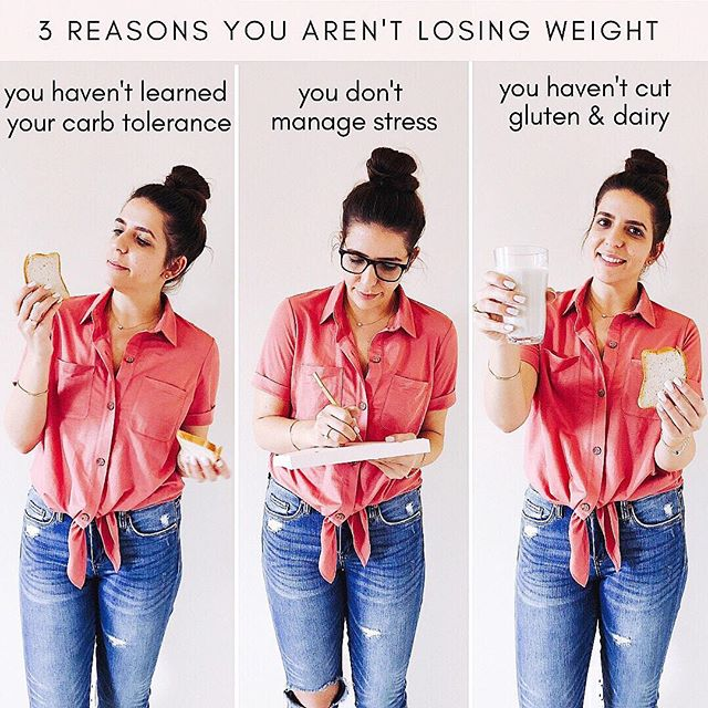 Question! Do you have PCOS and are struggling to lose weight? . . . There are a few reasons why you might not be losing weight. Cutting calories and over exercising isn't the answer! But going gluten and dairy free, learning your unique carb tolerance, learning your PCOS type, managing your stress, exercising for your PCOS type... These are all ways that will help you lose weight with PCOS. . . . Click the link in my bio to learn your PCOS type and receive an invitation to join The Cysterhood! ♥️✨