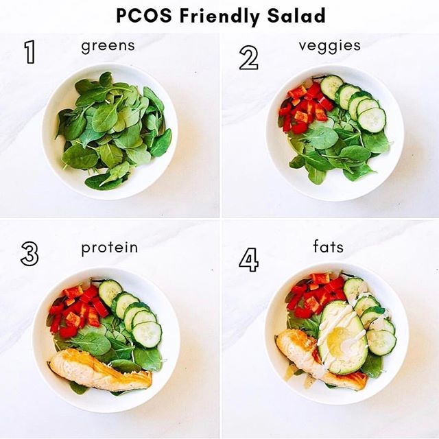 Question! What's your favorite salad that you like to throw together? . . . I always make sure to have ingredients in the fridge that I could throw together for a meal that's great for PCOS. This salad has lots of healthy fats, the best ingredient for getting your hair to grow back. Smoked salmon is my fav! You don't even have to cook it, just add some avocado and you got yourself a PCOS friendly salad! . . . Quiz in bio to see what type of PCOS you might have!👆🏼💕 You will also receive an invitation to join The Cysterhood!
