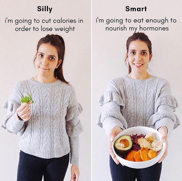 Question! Have you deprived yourself of nutrients cutting calories significantly and not even seen weight loss? . . . Our bodies need vitamins and minerals to thrive! We need these nutrients to nourish our hormones and create a balance within our body. Restricting calories will only cause more stress to your body and worsen PCOS symptoms. Eat PCOS friendly and eat until you're satisfied! . . . Take the quiz in my bio to learn your PCOS type and receive an invitation to join The Cysterhood ♥️✨