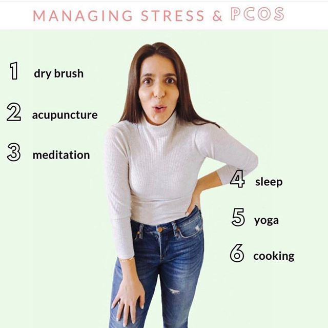 Question! What do you do to relieve your PCOS stress? . . Here are some of my favorite ways. Recently I've been going to acupuncture twice a week and it's making my sessions even better! I also love dry brushing every day to boost my energy and relieve stress! . . Click the link in my bio to take a quiz to find out what type of Cyster you are! 😍☝🏻