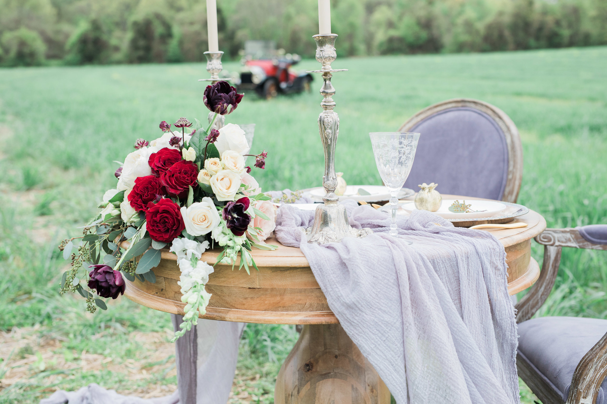 Burgundy and blush wedding by Love & Luster Floral Design