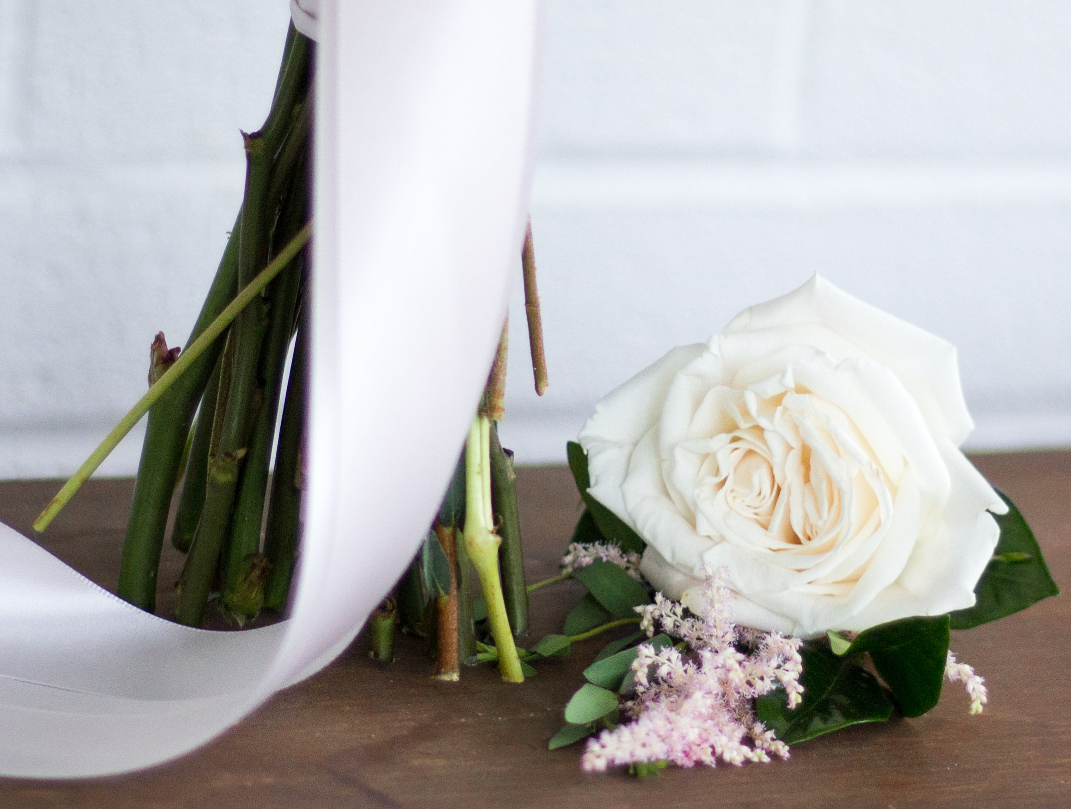 Love & Luster Floral Design Rose and Astilbe Boutonniere