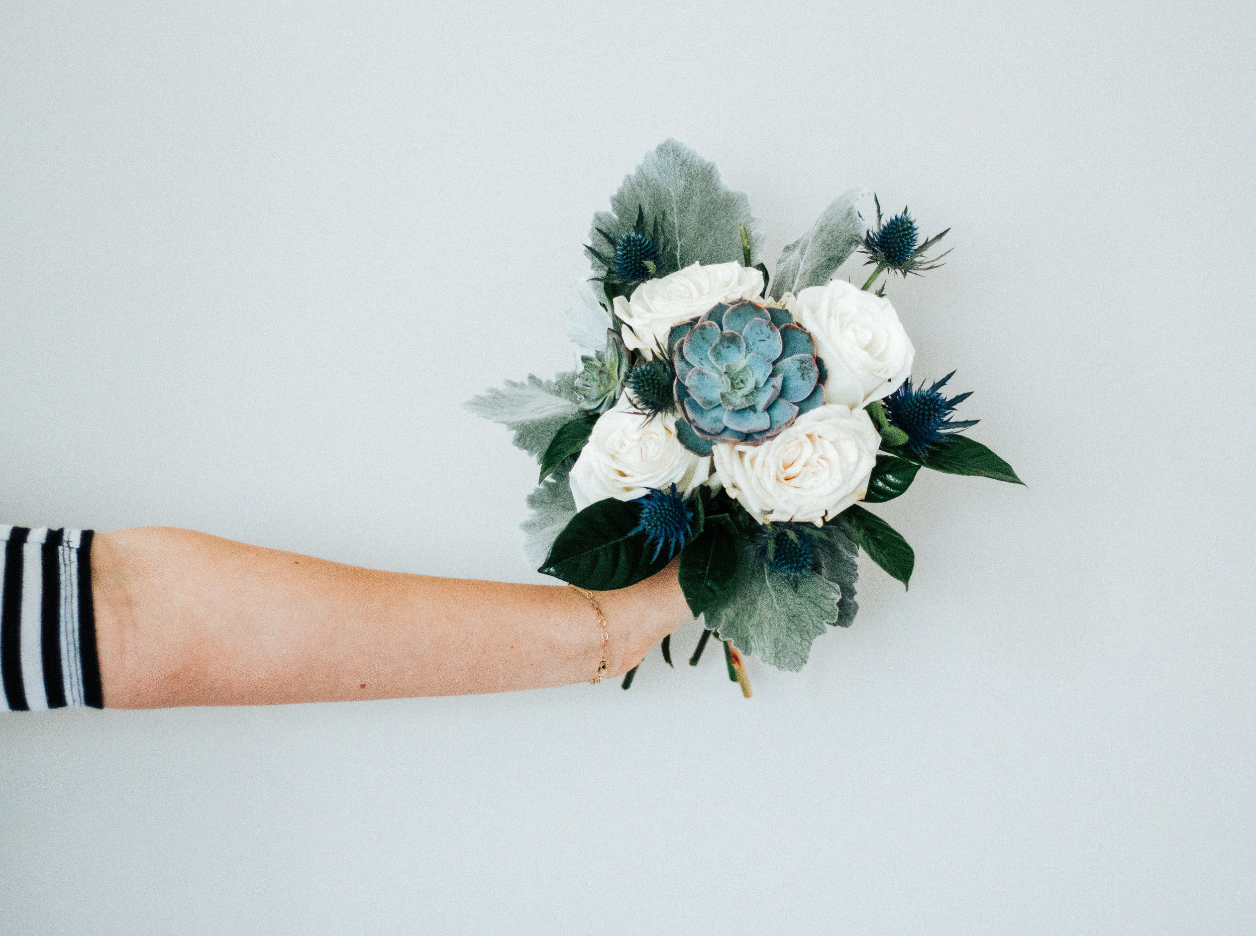 Love & Luster Floral Design Succulent Bridal Bouquet
