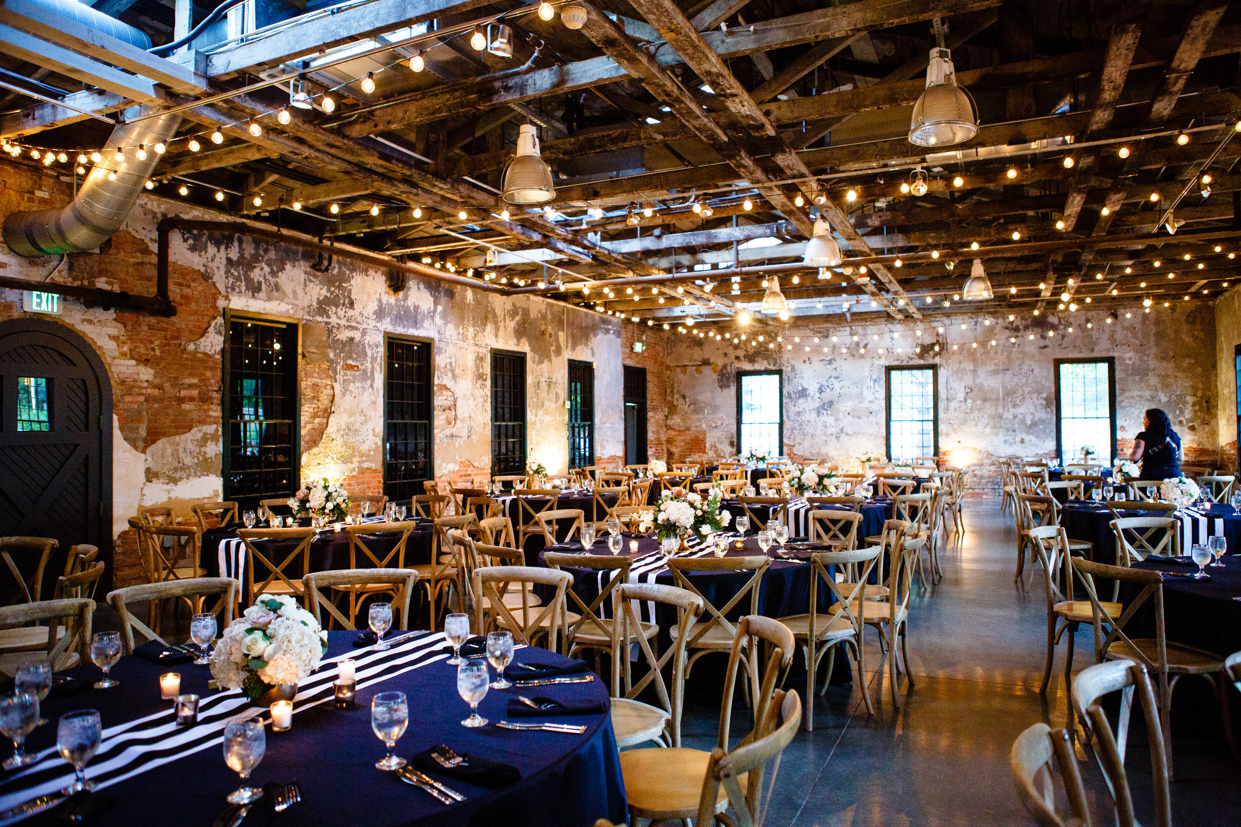 Florals by Love & Luster, Jeff Benzon Photography, Venue: Mt. Washington Mill- Dye House