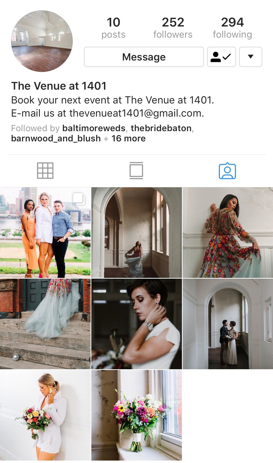 Search tagged photos - In the venue's bio, click tagged photos