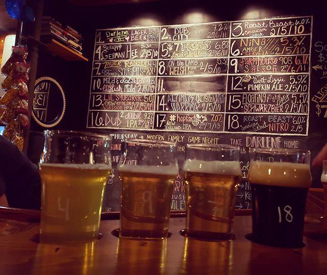 Another flight in the books! #beer #beerflight