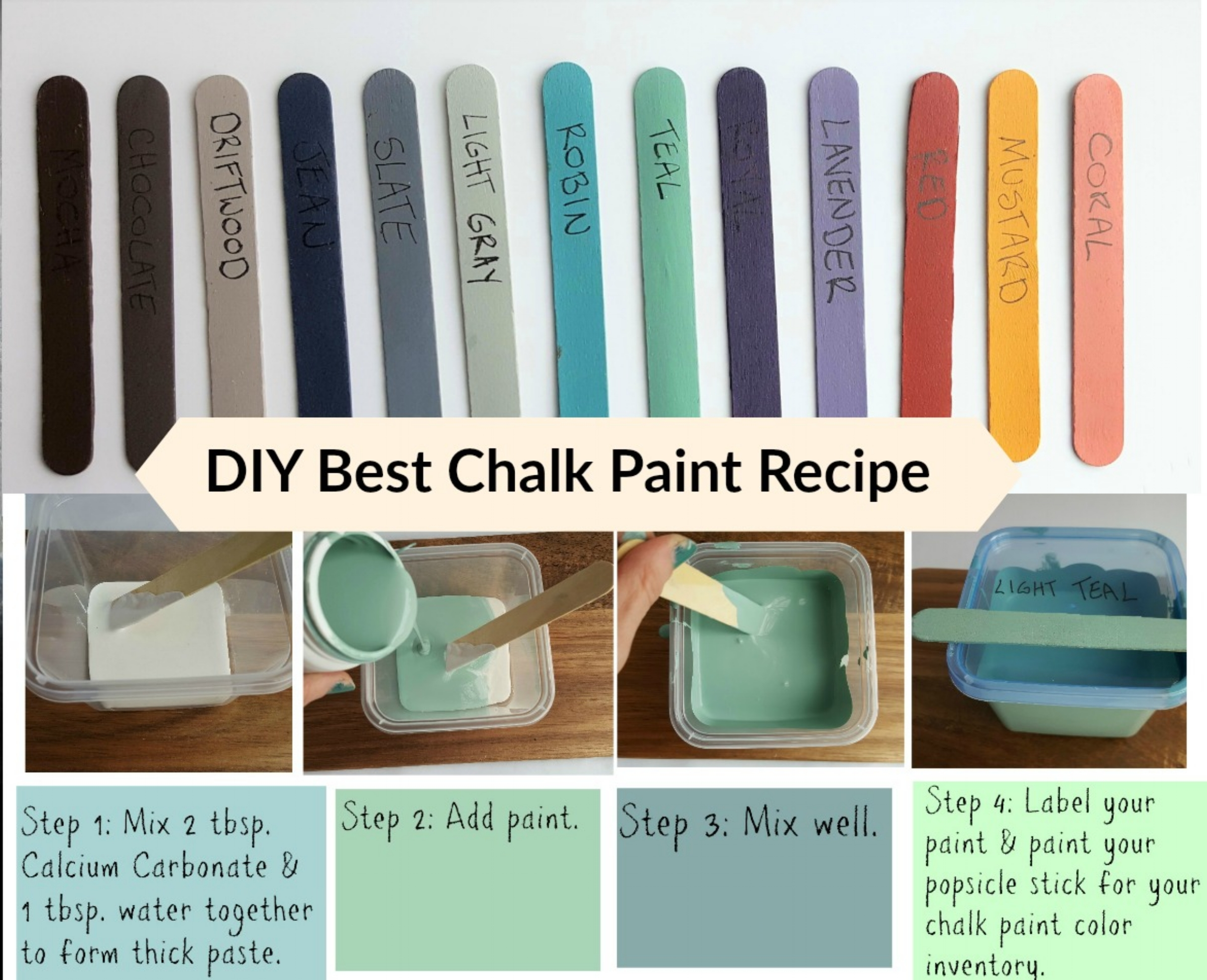 DIY CHALK PAINT RECIPE  ➽