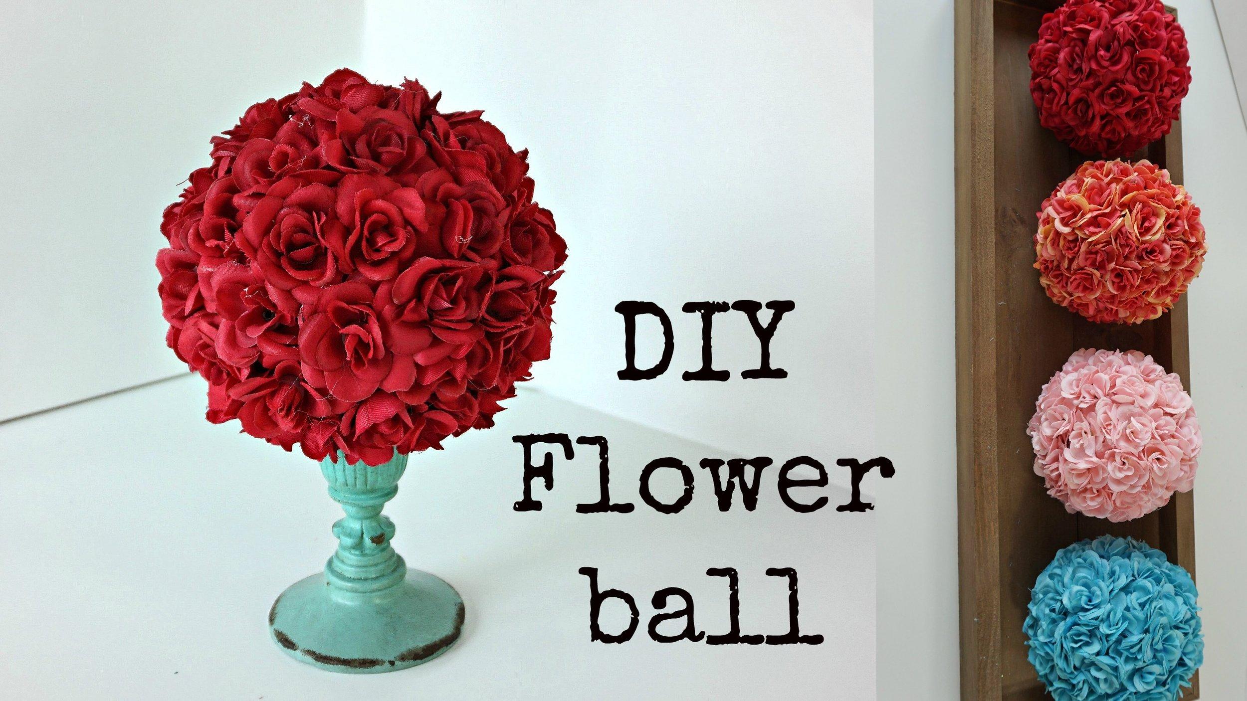 DIY FLOWERBALL ➽