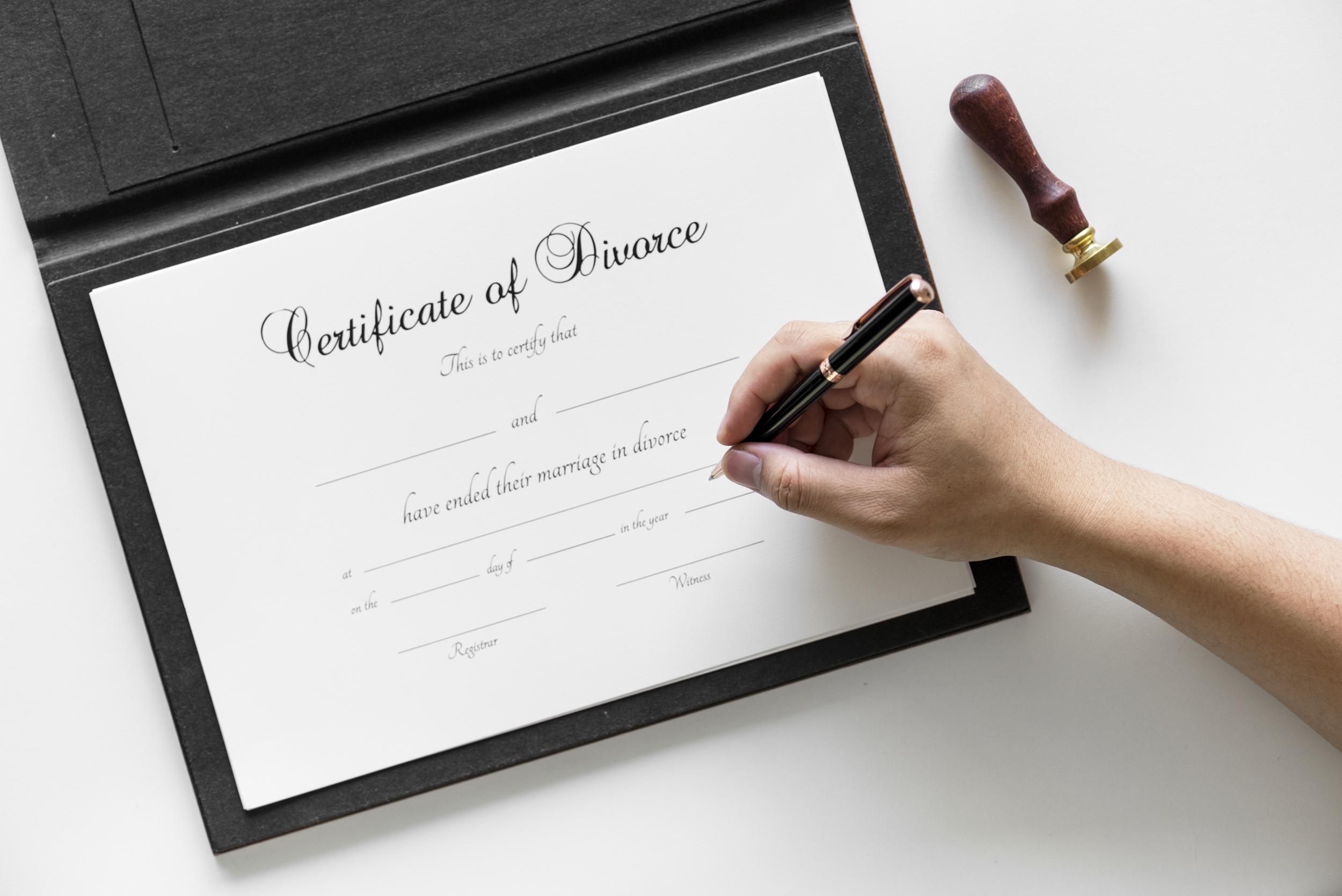 Certificate of Divorce