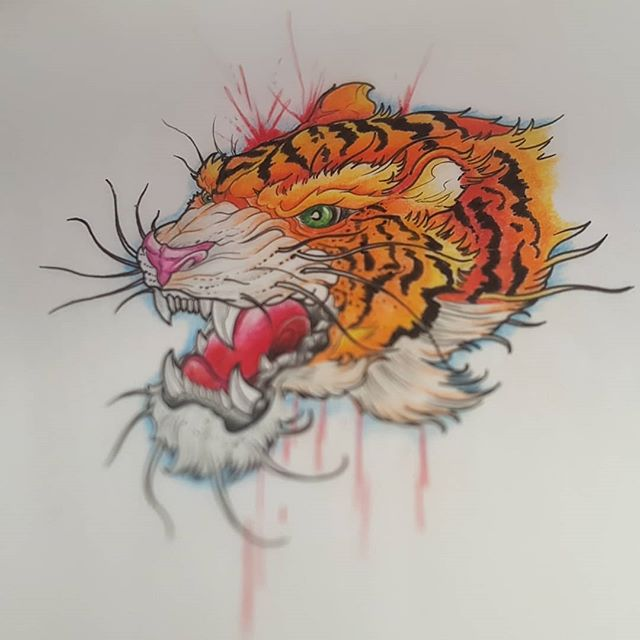 Some flash done up by Milly @whiteowltattoos. Call in today and book in!  #tattoo #tattoos #tats #ink #inked #yeg #yegartist #yegtattooartists #whyteavetattoo #whyteave #eternalinkwhyteave #eternalink #tigertattoo #colortattoo #traditionaltattoos