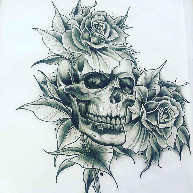 Milly @whiteowltattoos hard at work with some awesome drawings he wants to tattoo  #tattoo #tattoos #tats #ink #inked #yeg #yegartist #yegtattooartists #whyteavetattoo #whyteave #eternalinkwhyteave #eternalink #780 #skulltattoo #rosetattoo #skull #roses