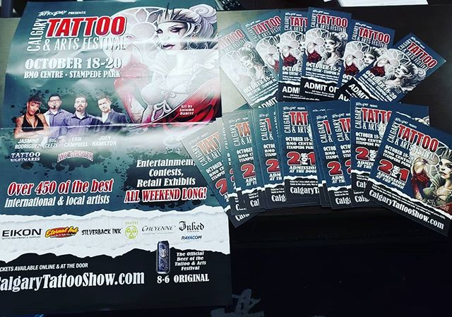 Well... look what came in the mail 😉 #Calgary we are coming for you in October! 🤟  Super stoked to bring our team back to #yyc for the convention  #yeg #yeggers #yegliving #yeglocal #yegtattoo #edmonton #edmontonliving #edmontontattoos  #yegartist #yegtattooartist #supportlocal #yeglife #yegbusiness #picoftheday #tattoos #yegdesign #tattooartist #yegliving #yeglife #yegstyle #yegarts #ink #inked #albertatattooconvention #tattooconvention #tgif