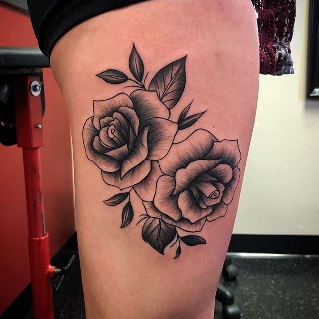 Stunning work by our stunning artist @kstudiotattoo 🌹 #eternalinkwhyteave #yegtattoos #yegtattooshop #yegtattooartist #tattoo #floraltattoo #blackwork #tattoostagram #tattooartist