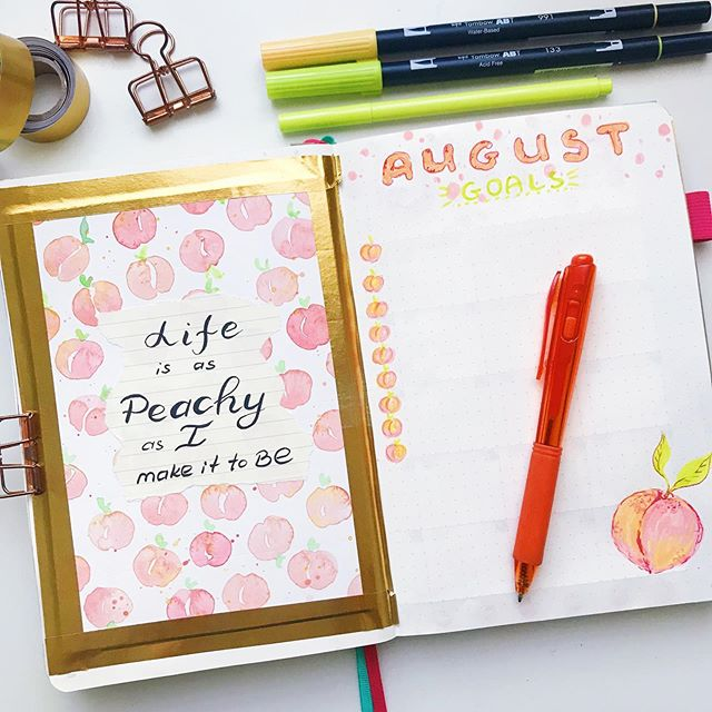It's August !!! For this month I picked a super simple theme 🍑🍑🍑🍑🍑🍑🍑🍑🍑 plus I can't get enough of 🍑🍑🍑🍑🍑🍑🍑