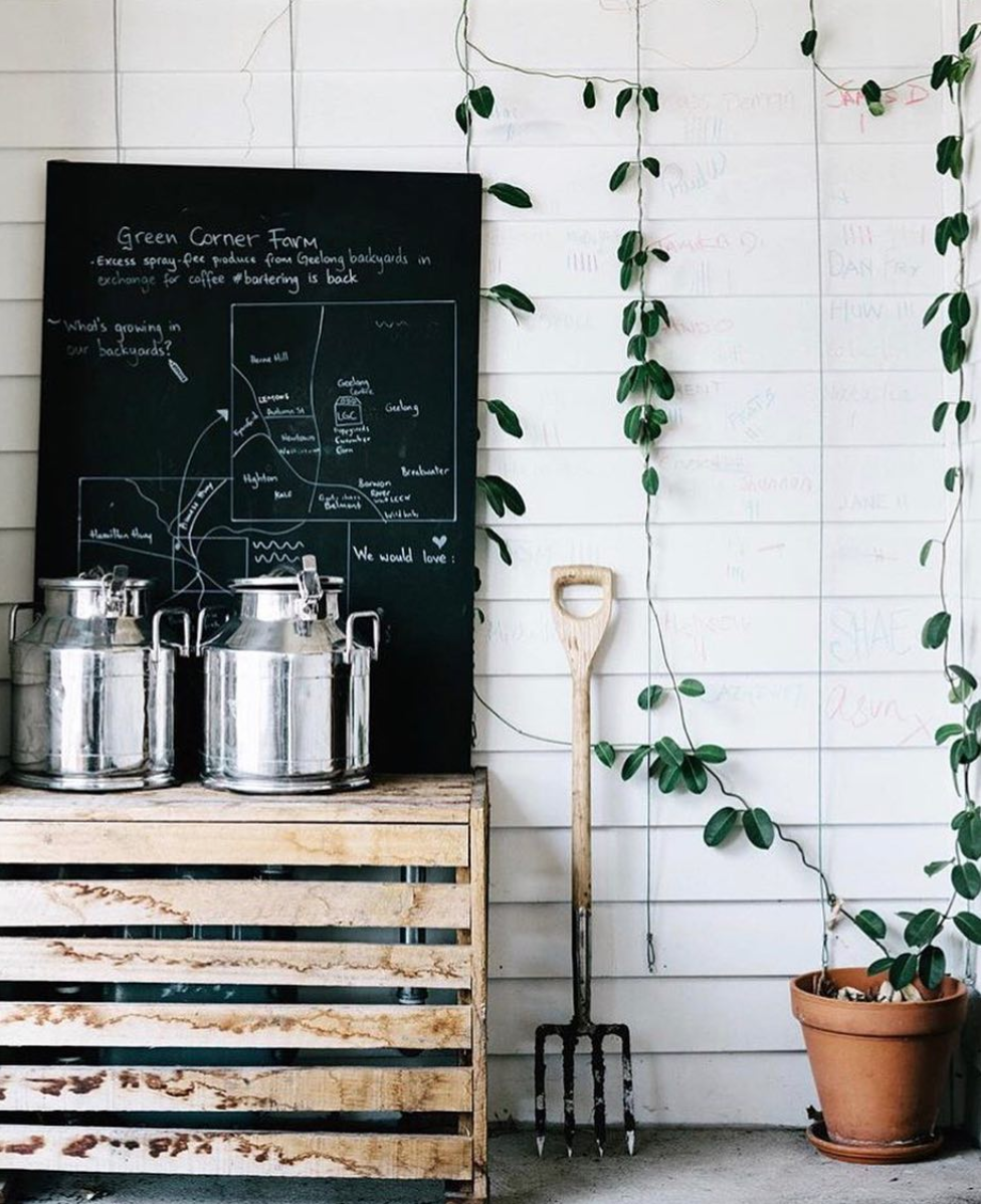 Following from the closure of Brothl, other commercial clients were able to make use of our milk pails.  Image Credit: Little Green Corner .