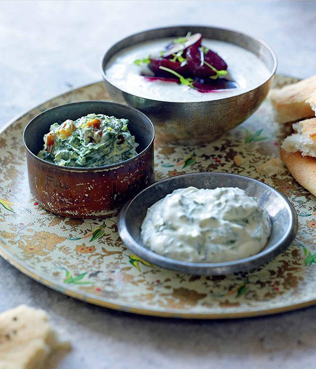 Whipped Yogurt w Fetta & Soft Herbs Image credit: Greg & Lucy Malouf, Gourmet Traveller