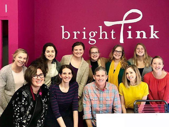 We had the most wonderful visit with the ladies of @bebrightpink yesterday! It's a privilege to partner with this amazing organization working to end breast and ovarian cancers. #dotUPpink #brightpink #breastcancerawareness #ovariancancerawareness