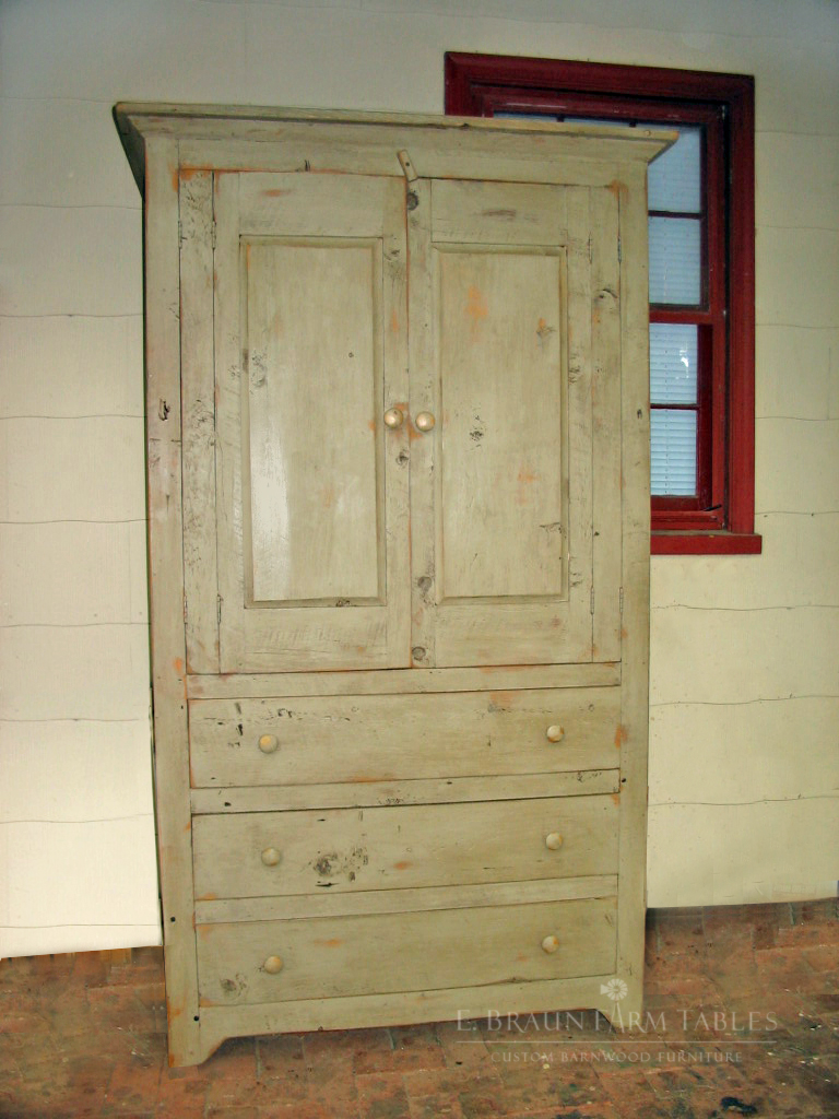 BR54 - Raised Panel Armoire with Drawers