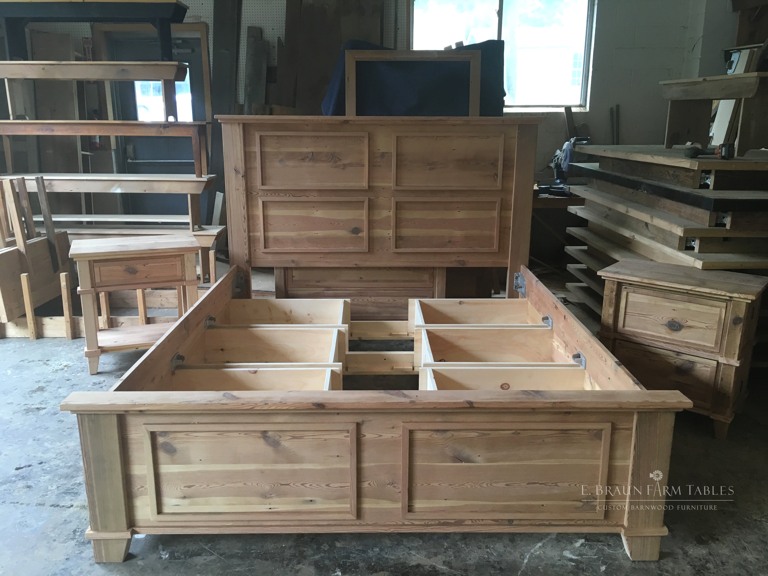 BR58 - Custom Platform Bed with Drawers
