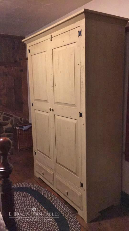 BR63 - Raised Panel Armoire/Wardrobe