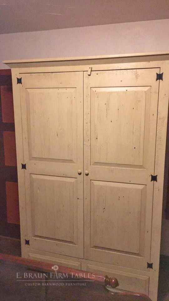BR64 - Raised Panel Armoire/Wardrobe