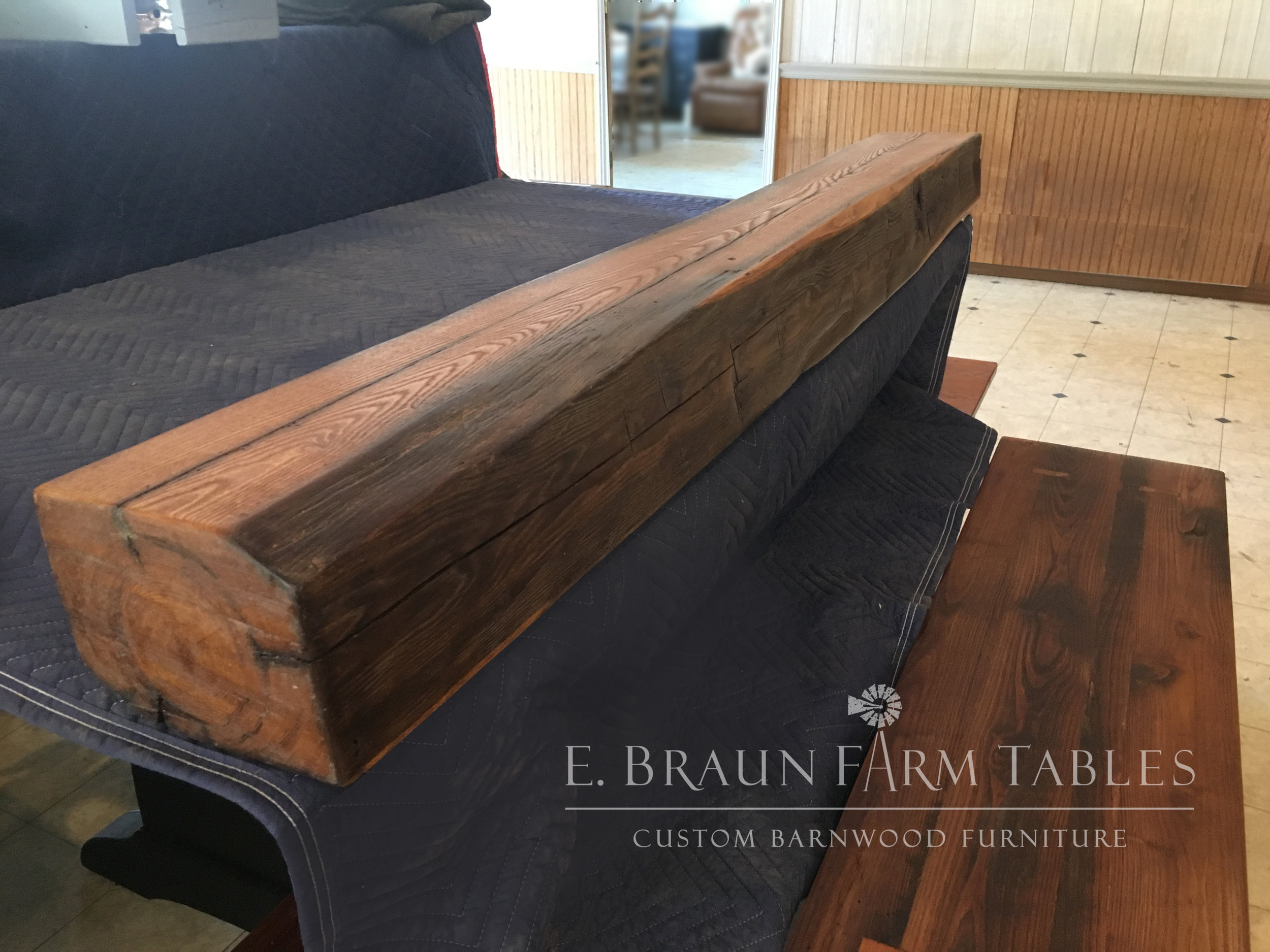 Reclaimed American Chestnut Mantel 1