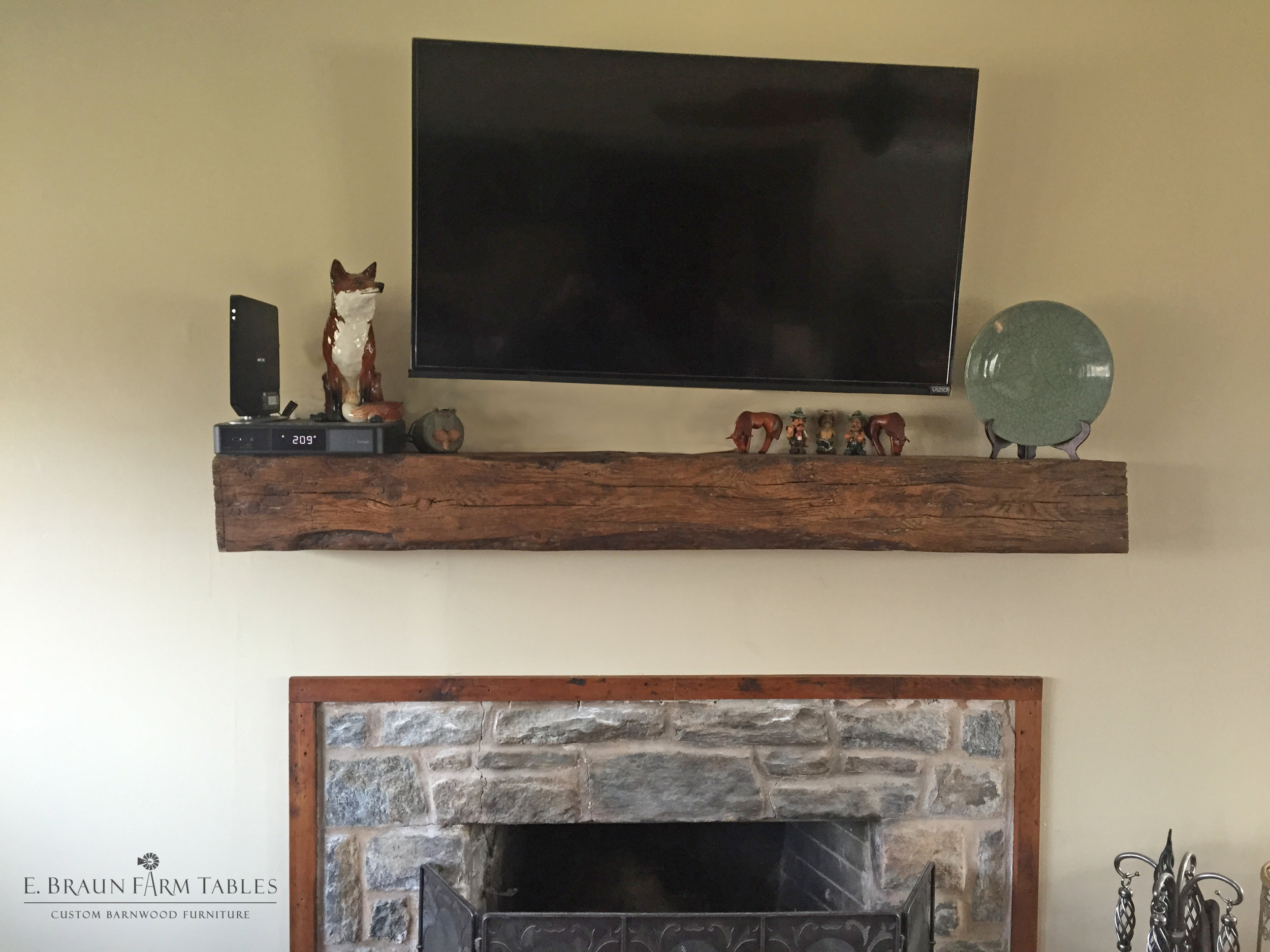Reclaimed White Pine Mantel 3