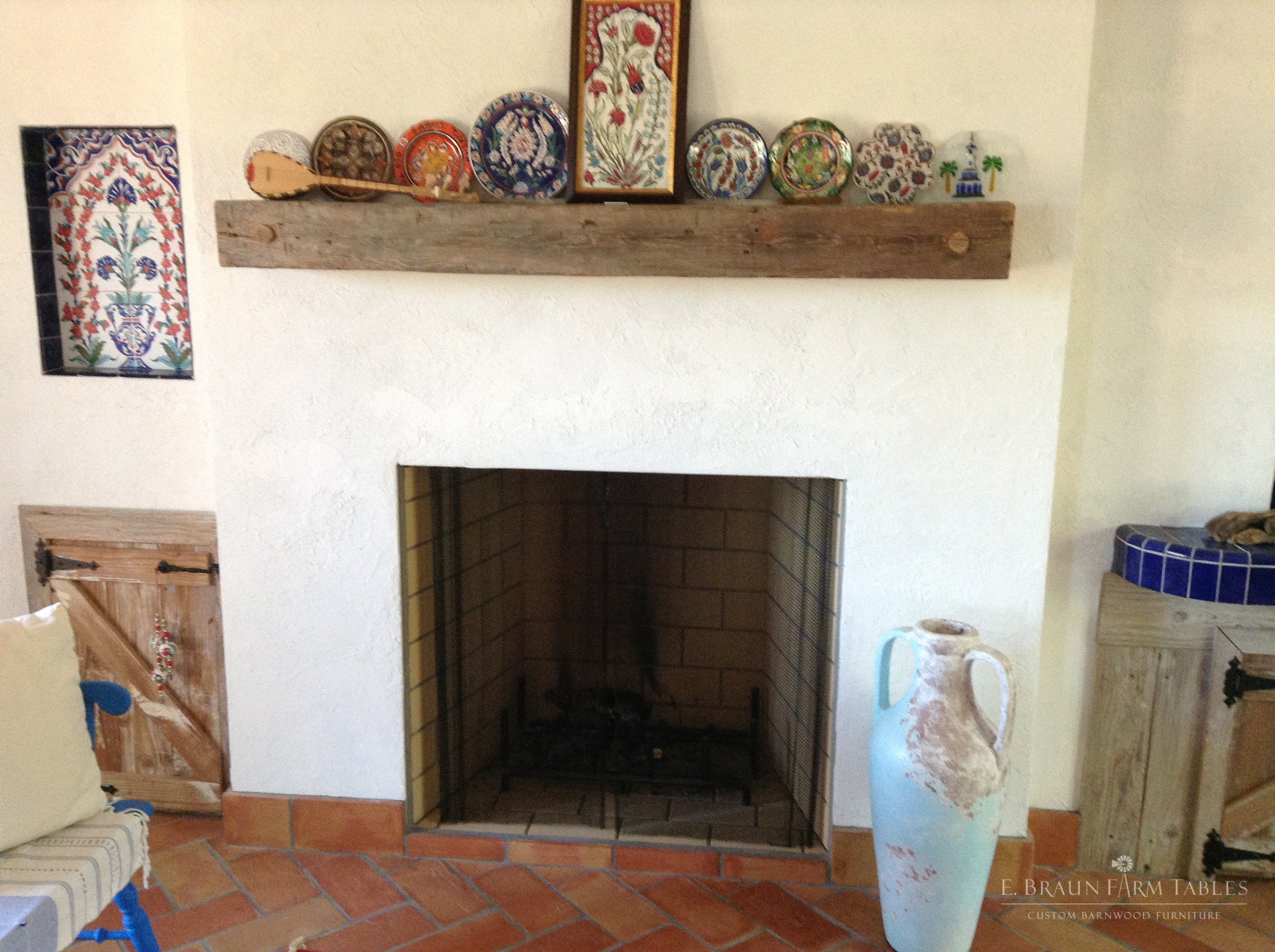 Reclaimed White Pine Mantel 4