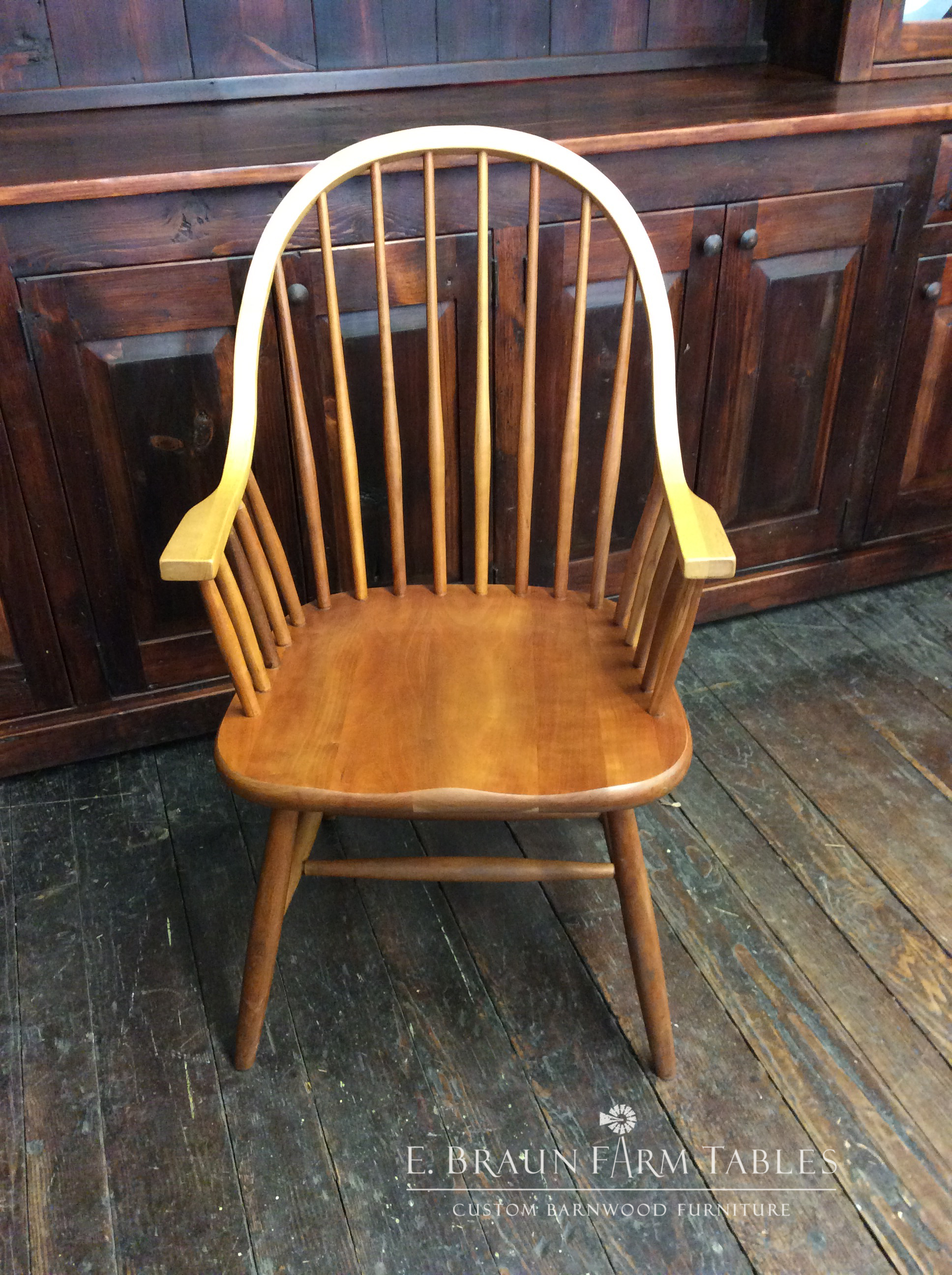 Eight-Spindle Arm Chair