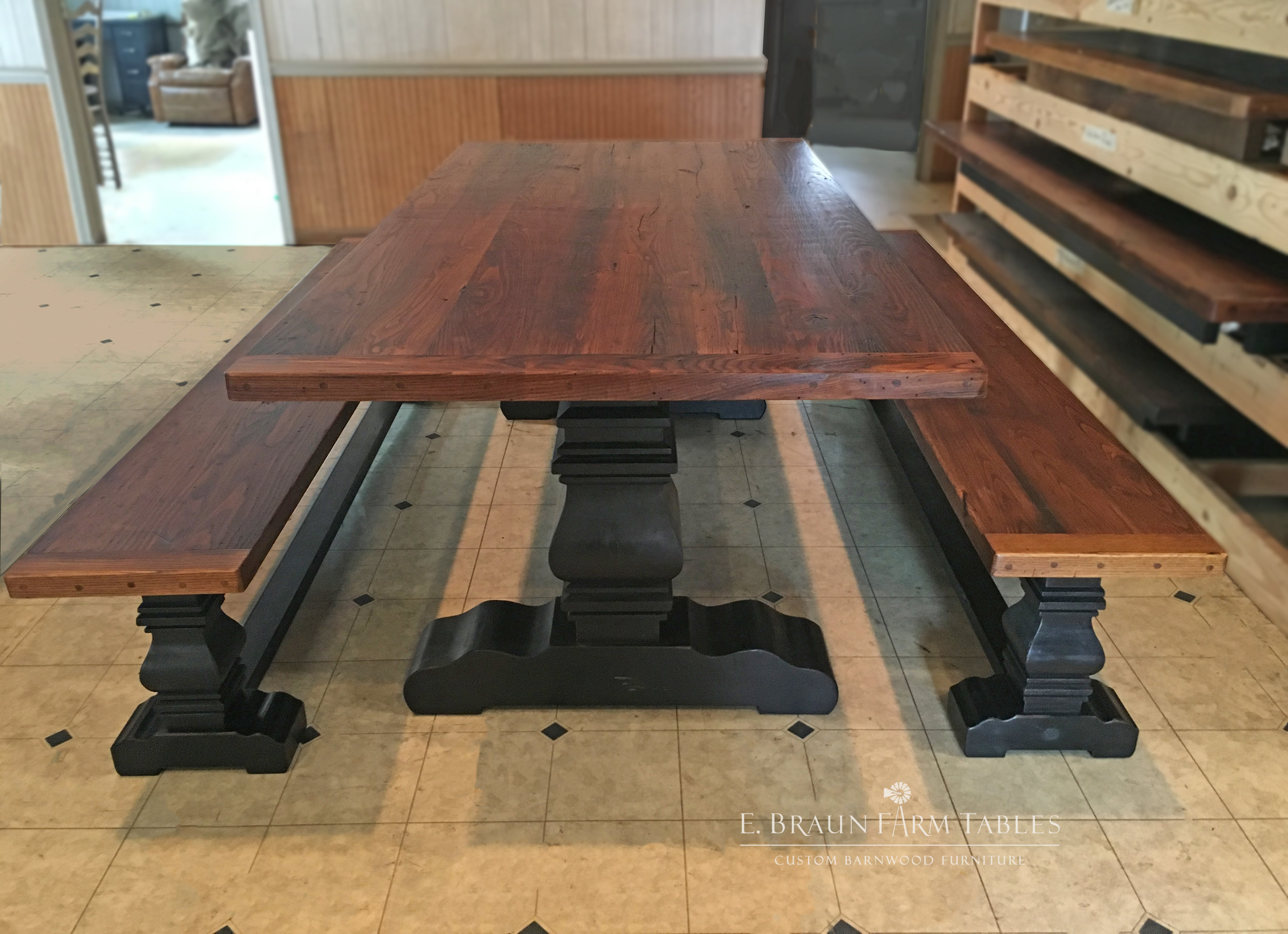 Pear Pedestal Benches
