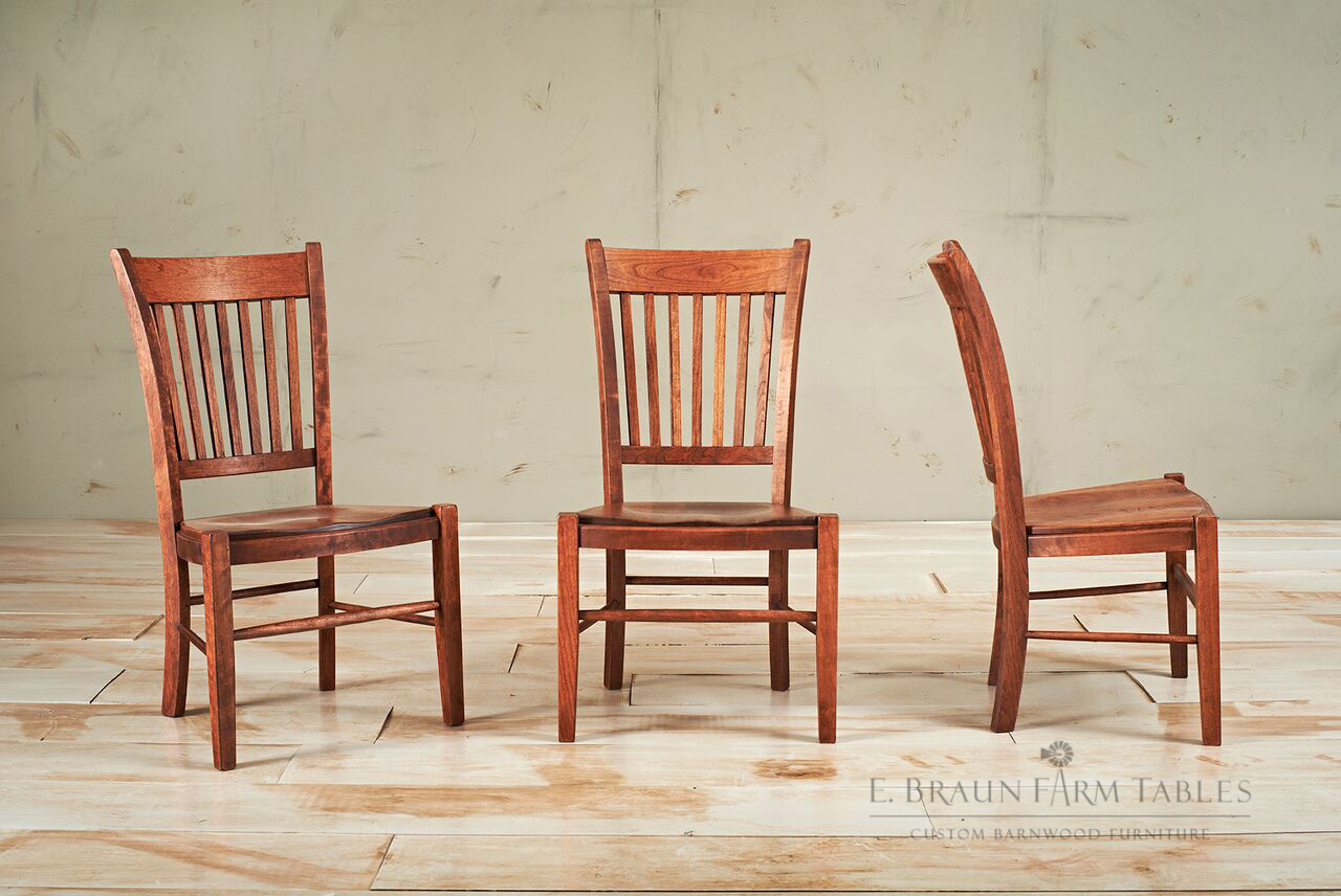 Liberty Side Chairs, stained