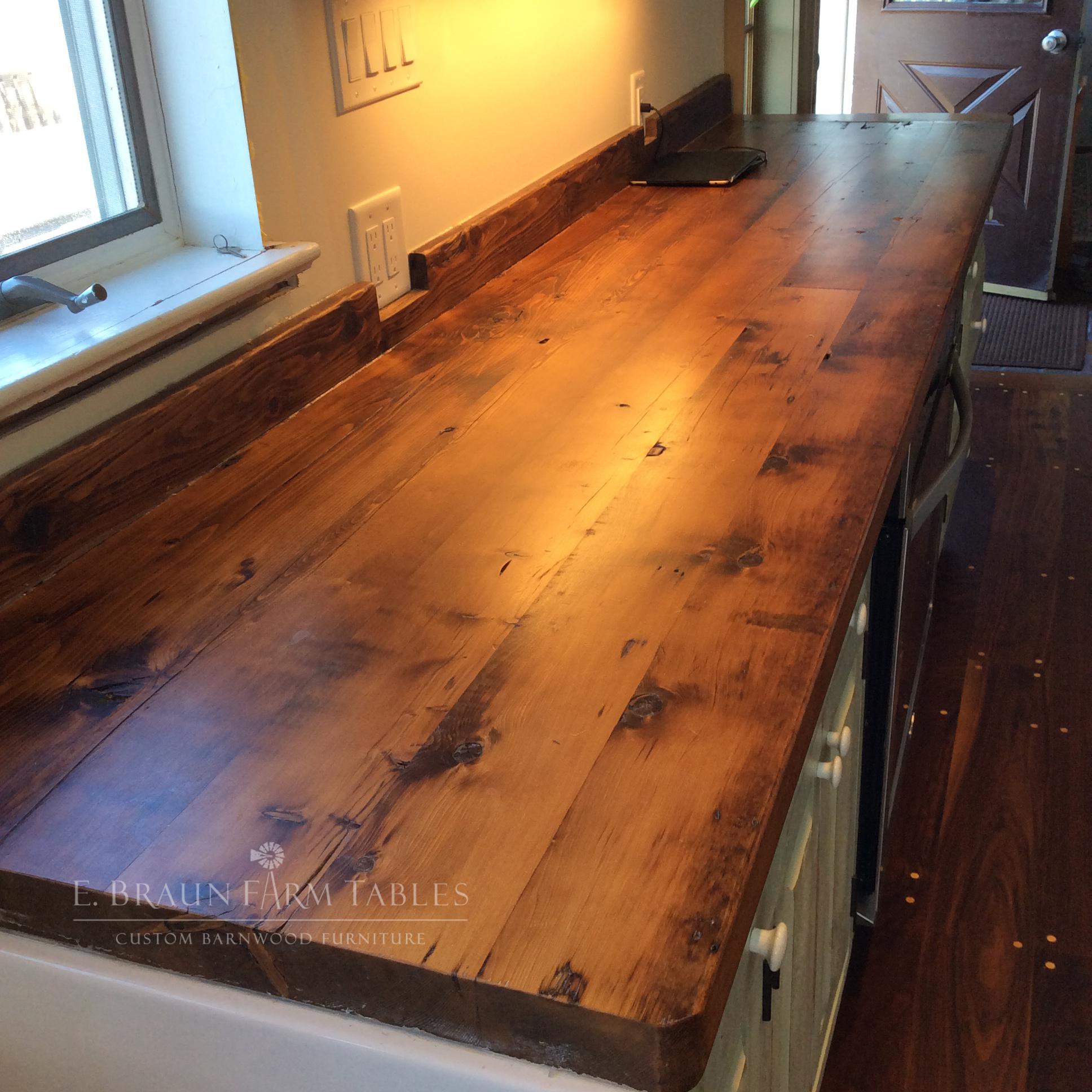 Reclaimed Pine Countertops