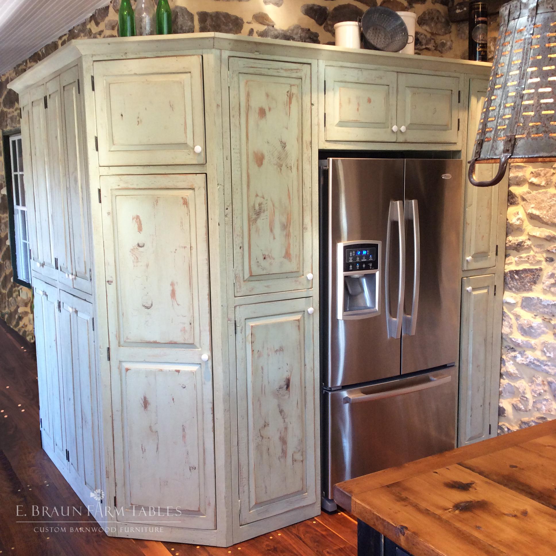 Refrigerator surround cabinetry