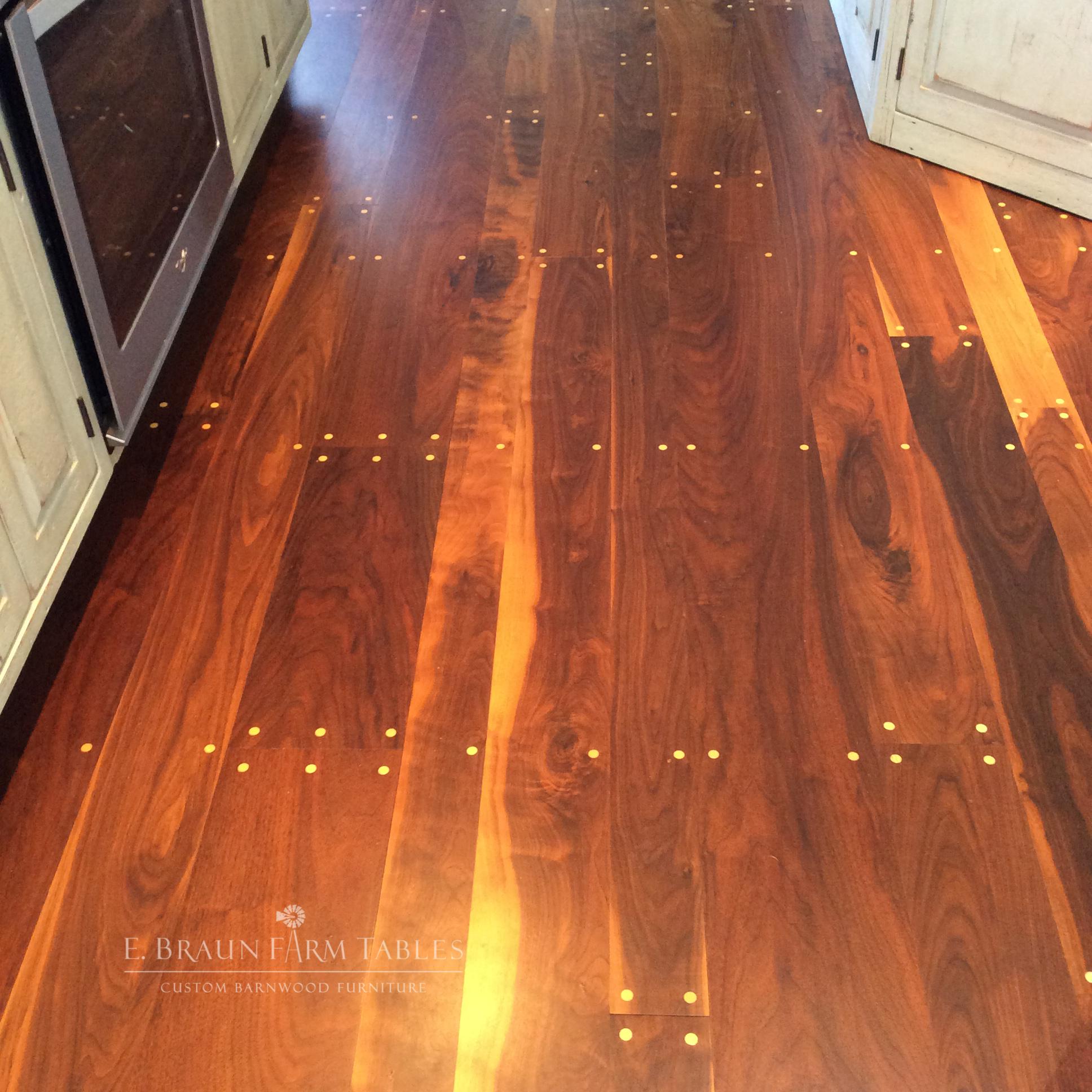 Black Walnut Flooring with Cherry Wood Pegs