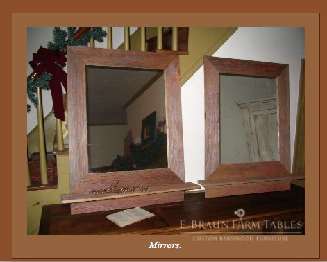 M14 -  Barn Wood Mirrors with Shelves