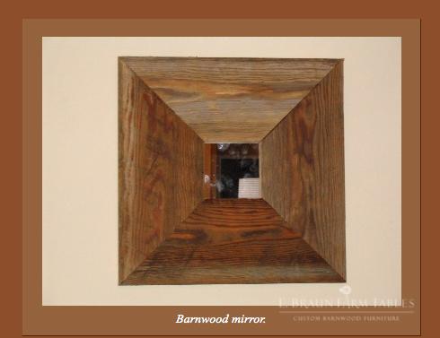 M13 - Barn Wood Mirror